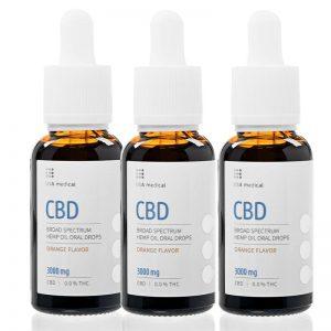 CBD kvapky 3000 mg * 3 ks